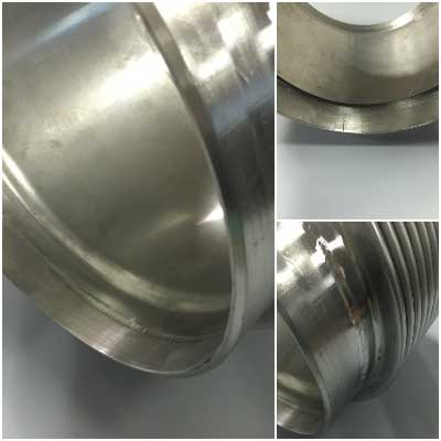 Engine exhaust stainless steel bellows expansion joint